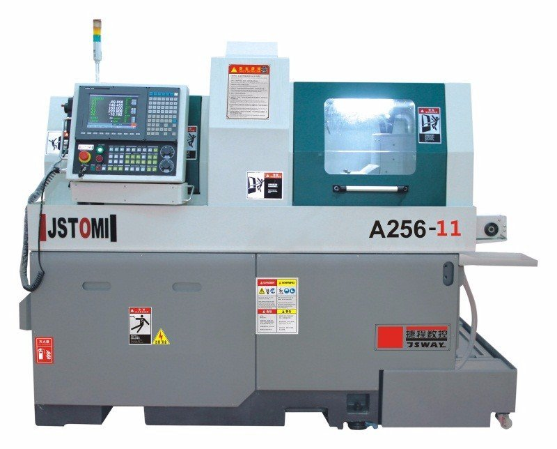 A256-11 Double Spindle Rotary Auto swiss type CNC Lathe Machine