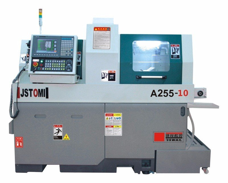A255-10 Double Spindle Rotary Auto swiss type CNC Lathe Machine