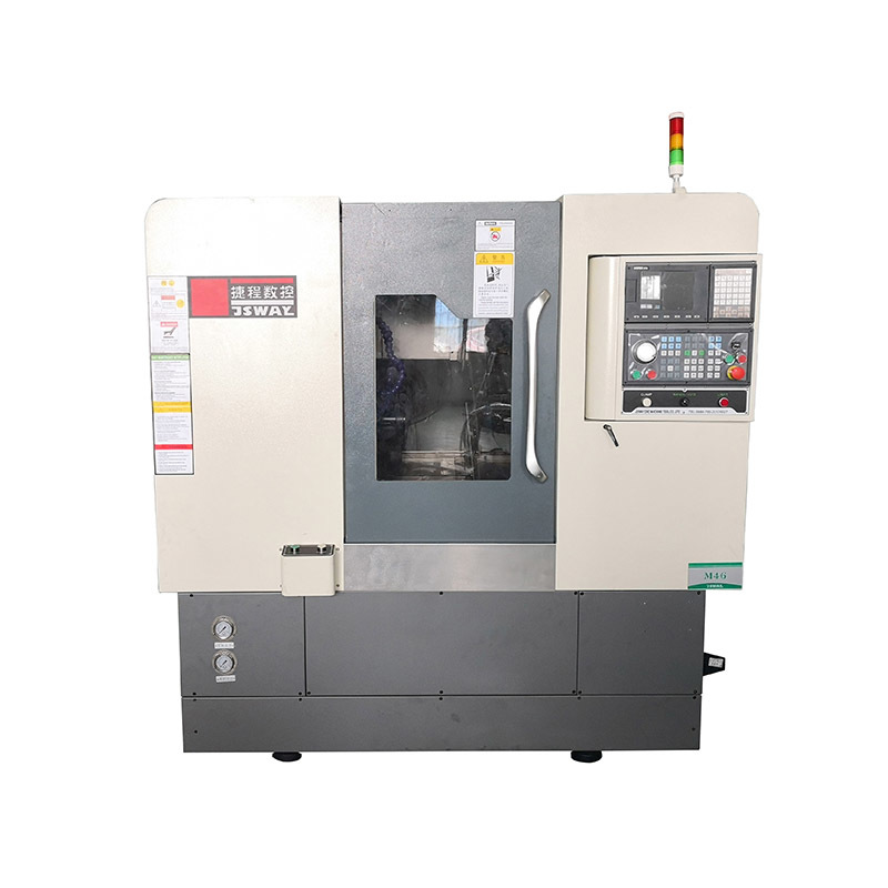2 axis gang type slant bed CNC lathe machine CFG46/CFG56