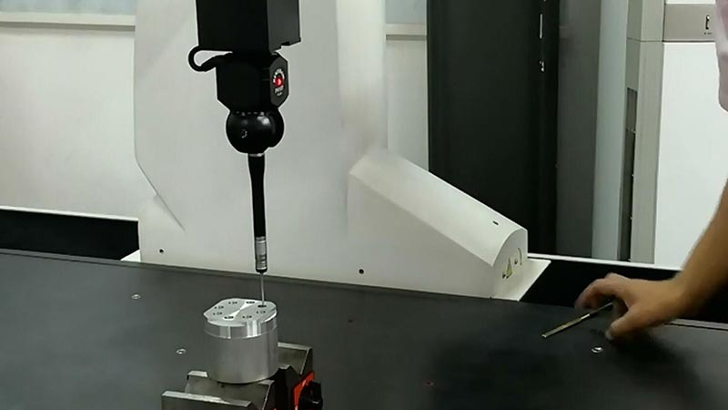 Turning center lathe machine B8D indexing accuracy test (3)