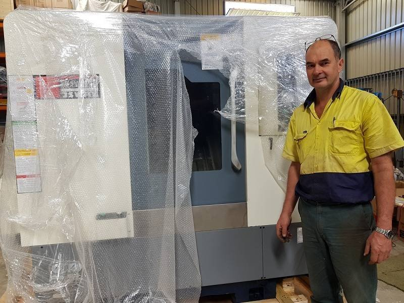 First 4 axis machine M46X( updated CZG46X) landed on Australia.
